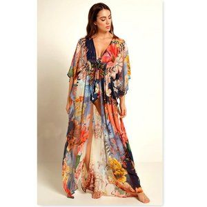 Floral Kimono Duster Cardigans Beach Cover up NEW